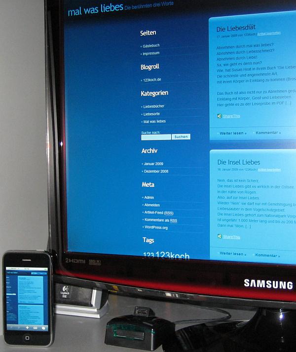 iPhone 3G und Samsung T220HD